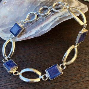 """Jewelry - 🆕🆕🆕✨LAPIS LAZULI SILVER PLATED BRACELET 7-8""""✨"""